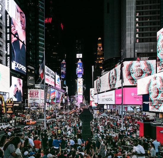 Sun Xun 'Time Spy' projection on Time Square, Audemars Piguet Art Commission© Audemars Piguet