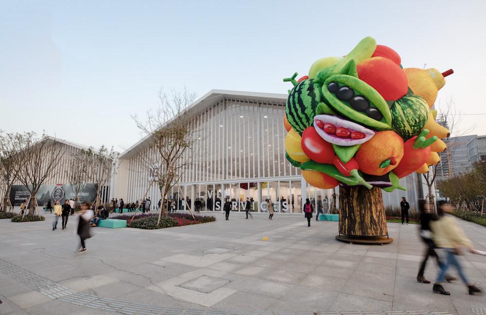 Xian Chang, Choi Jeong Hwa Fruit Tree 2014 Gallery P21 West Bund Art Fair 2018 Credit West Bund Art Fair